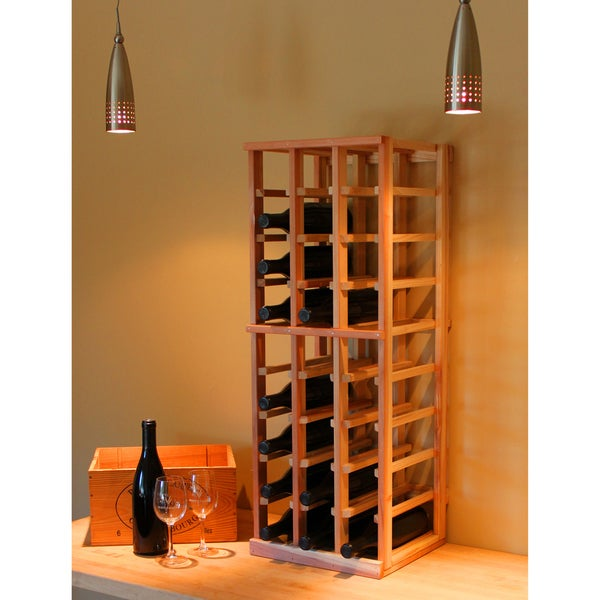 Redwood 27-bottle Wine Rack