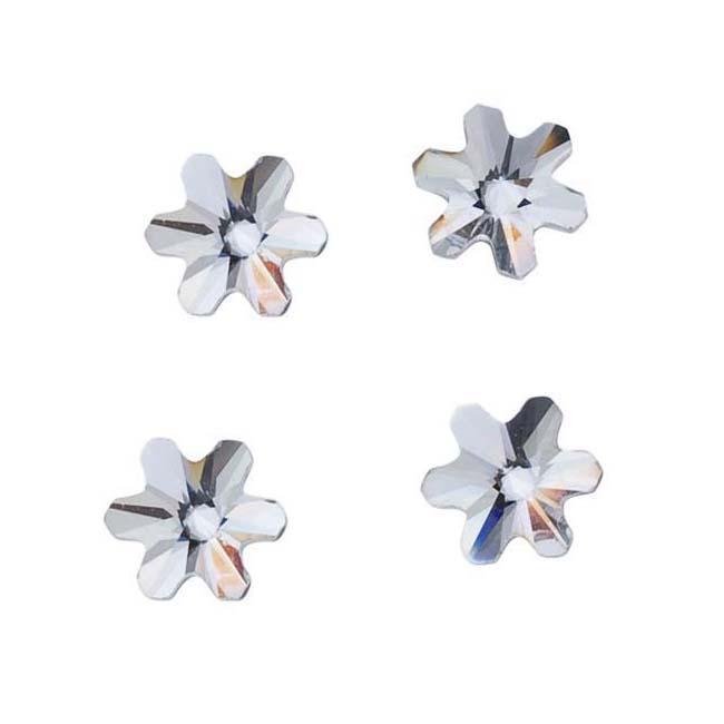 Beadaholique Crystal 5mm Austrian Crystal Flatback Flower-Shaped Rhinestones (Pack of 10)