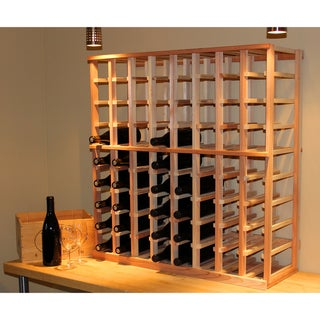 Architectural Elements Redwood 72-bottle Wine Rack