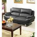 Alice Black Bonded Leather Sofa