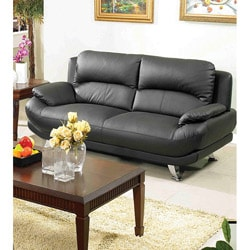 Alice Black Bonded Leather  Sofa