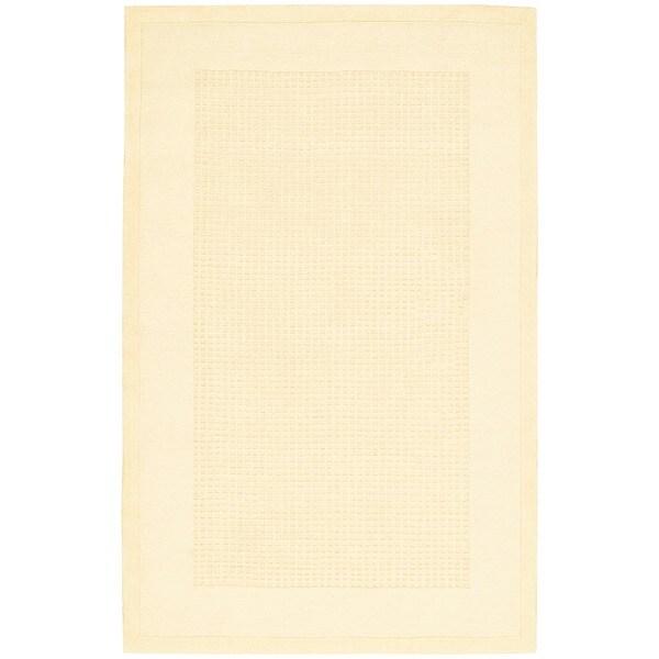 Nourison Westport Hand-tufted Ivory Wool Rug (3'6 x 5'6)