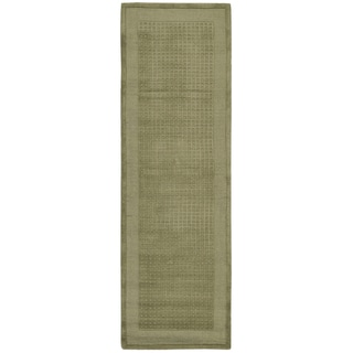 Nourison Westport Hand-tufted Sage Wool Rug (2'3 x 7'6) Runner