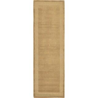 Nourison Westport Hand-tufted Sand Wool Rug (2'3 x 7'6) Runner