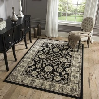 "Westminster Agra Black Power-Loomed Rug (9'10"" x 13'6"")"