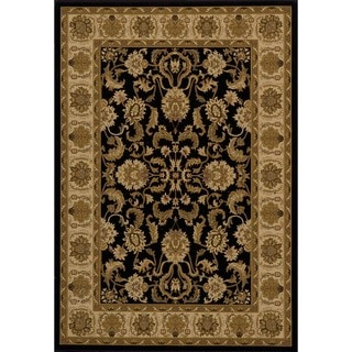 "Westminster Agra Black Power-Loomed Rug (5'3"" x 7'7"")"