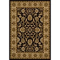 Traditional Black Rug (5'3 x 7'7)