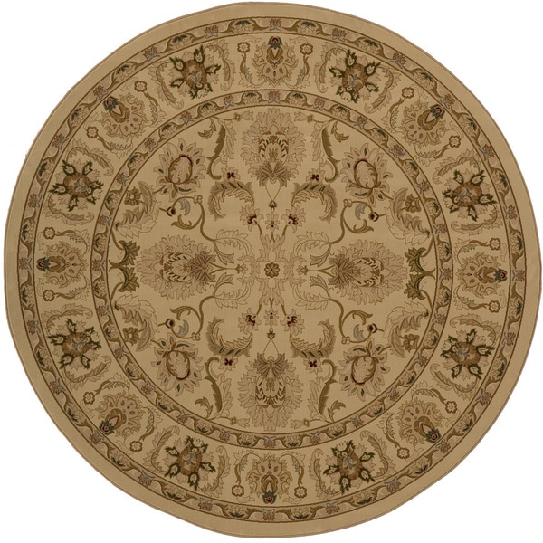 """Westminster Agra Ivory Power-Loomed Rug (7'10"""" x 7'10"""" Round)"""