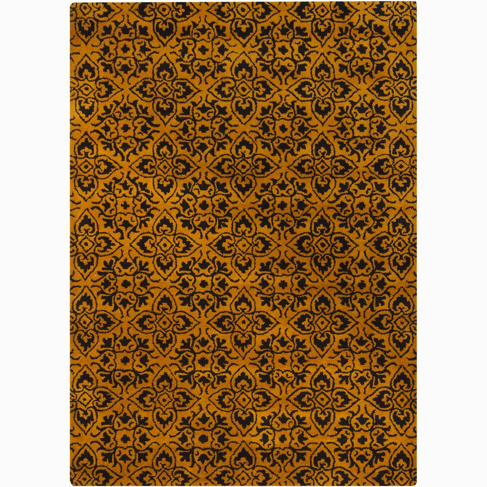 Mandara Hand-tufted Gold Wool Rug (7' x 10')