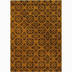 Mandara Hand-tufted Gold Wool Rug (7' x 10')