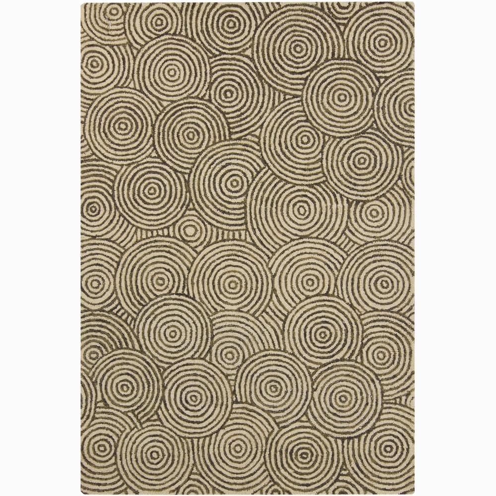 Mandara Unique Hand-tufted Beige Wool Rug (4' x 6')