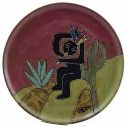 Mara Stoneware Round Kokopelli Platter (Mexico)