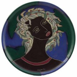 Mara Stoneware Round Face Platter (Mexico)