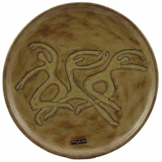 Mara Stoneware Round Dancers Platter (Mexico)