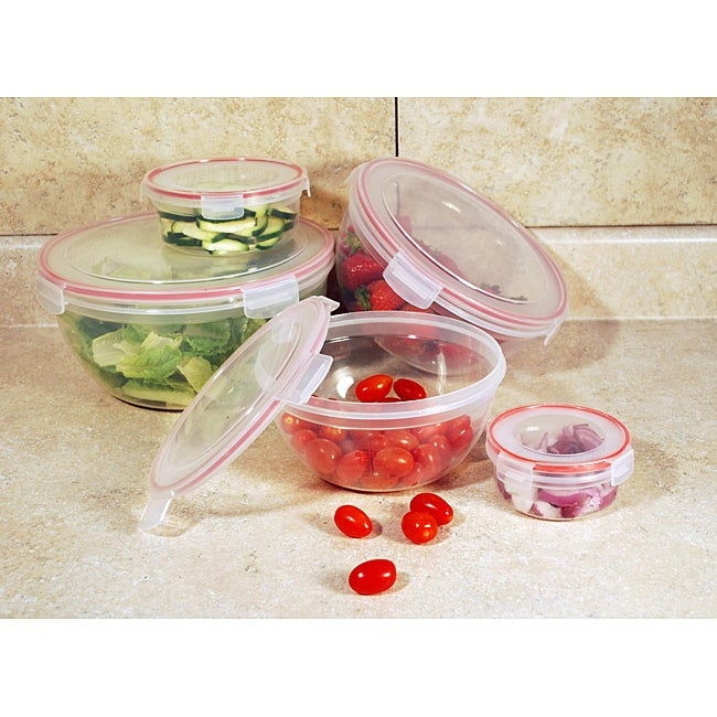 Lock and Seal 10-piece Round Storage Container Set