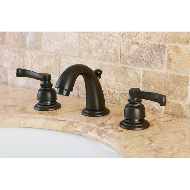 mini widespread double handle oil rubbed bronze bathroom faucet
