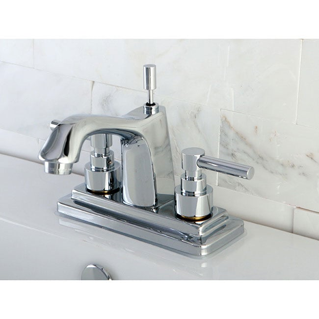 Bathroom Faucets 4 Inch Centerset : Chrome 4-inch Centerset Bathroom Faucet - 13709546 - Overstock.com ...