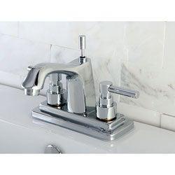 Chrome 4-inch Centerset Bathroom Faucet