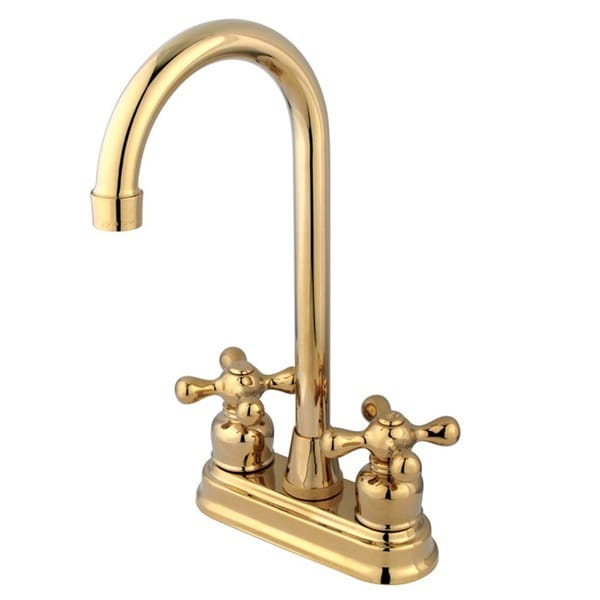 Polished Brass Two handle Bar Faucet