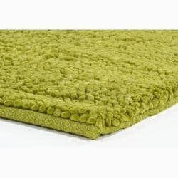 Handwoven Green Mandara New Zealand Wool Shag Rug (7'9 Round)