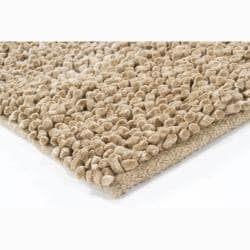 Handwoven Light Brown Mandara New Zealand Wool Shag Rug (5' x 7'6)