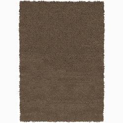 Handwoven One-Inch Mandara New Zealand Wool Shag Rug (7'9 Round)