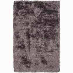 Handwoven Silver-Gray Mandara Shag Rug (7'9 Round)