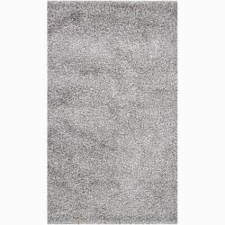 Handwoven Light Gray Mandara Shag Rug (5' x 7'6)