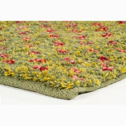 Artist's Loom Hand-woven Wool Shag Rug (9'x13')