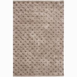 Handwoven Casual Brown Mandara New Zealand Wool Rug (2'6 x 7'6)