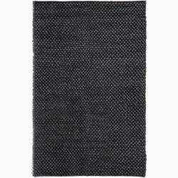 Handwoven Gray Mandara New Zealand Wool Rug (9' x 13')