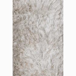 Handwoven White Mandara Shag Runner Rug (2' x 7'6)