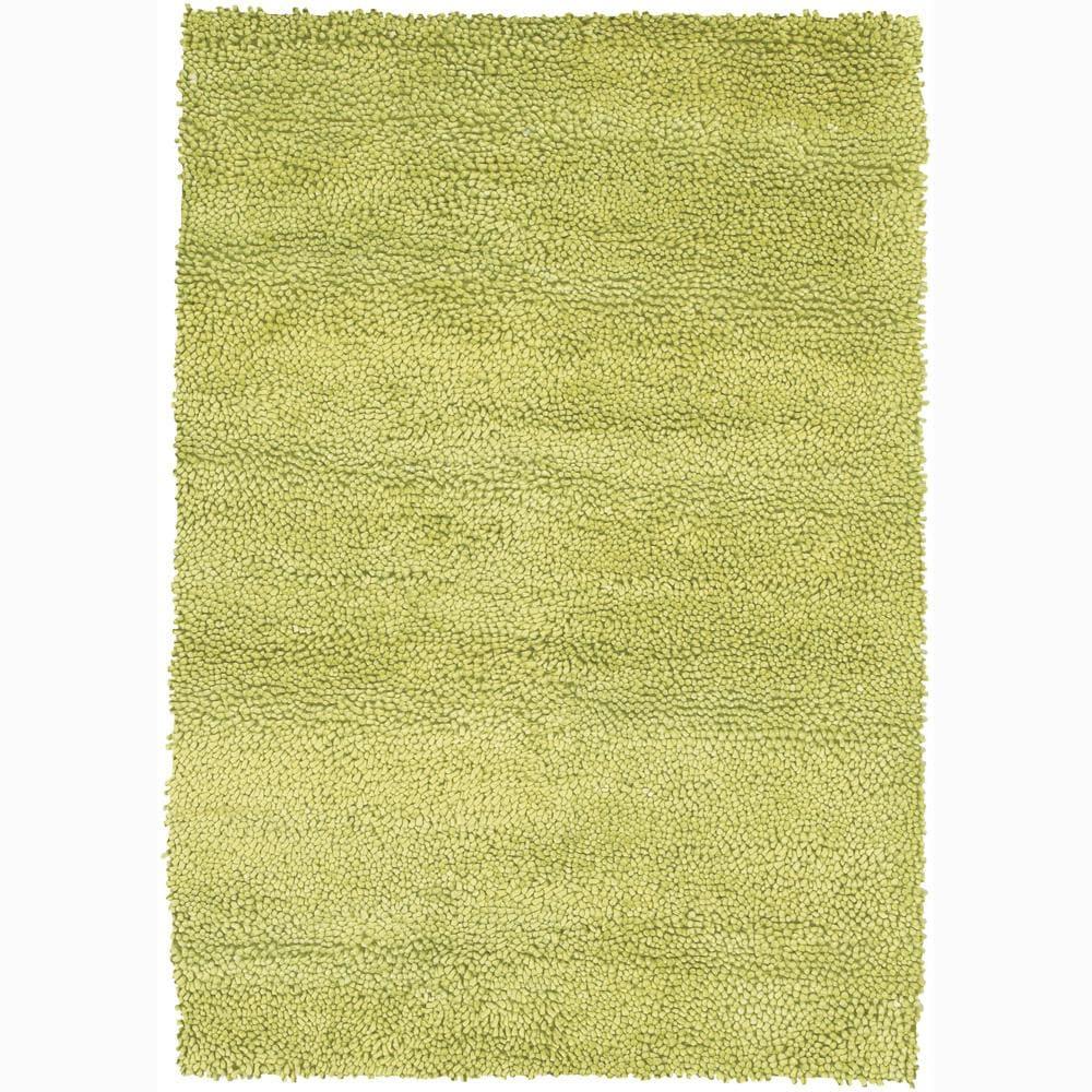 Mandara Handwoven Lime-Green Mandara New Zealand Wool Shag Rug (7'9 x 10'6) at Sears.com