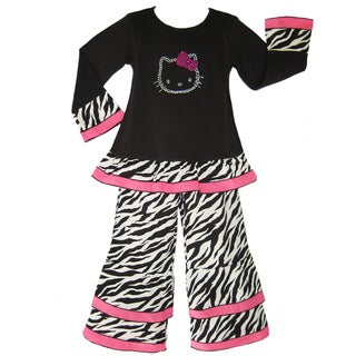 Ann Loren Girls 2-piece Boutique Hello Kitty Embellished Set