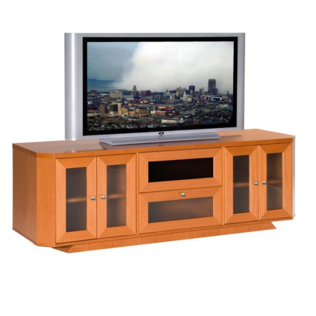 light cherry 70 inch tv entertainment center overstock shopping great deals on furnitech. Black Bedroom Furniture Sets. Home Design Ideas