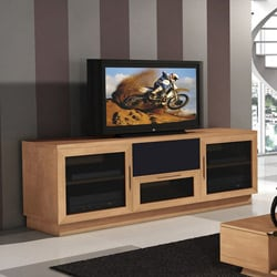 Contemporary 60-inch Natural Cherry TV and Entertainment Center