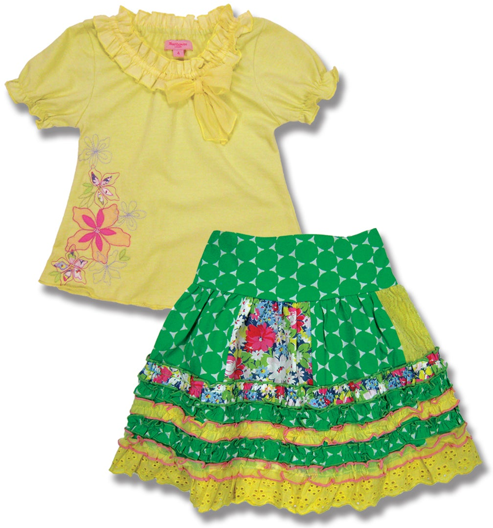 Beetlejuice London Girls Cotton Skirt Set