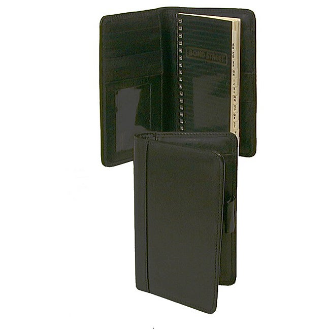 Black Soft Leather Pocket Organizer