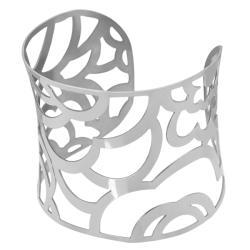 Stainless Steel Organic Design Cuff Bracelet