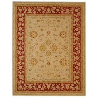 Safavieh Handmade Ancestry Ivory/ Red Wool Rug (12' x 18')