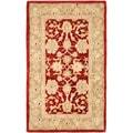 Safavieh Handmade Ancestry Red/ Green Wool Rug (3' x 5')