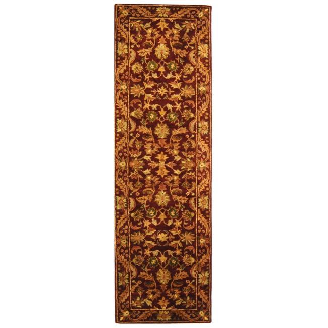 Safavieh Handmade Exquisite Wine/ Gold Wool Runner (2'3 x 16')