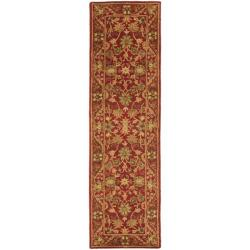Safavieh Handmade Heirloom Red Wool Runner (2'3 x 10')
