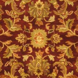 Safavieh Handmade Exquisite Wine/ Gold Wool Rug (12' x 15')