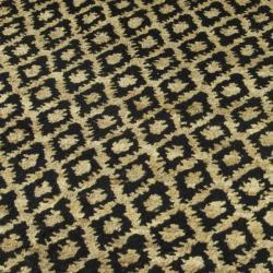 Safavieh Hand-knotted Vegetable Dye Black/ Gold Rug (9' x 12')