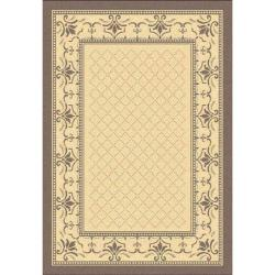 Indoor/ Outdoor Royal Natural/ Brown Rug (9' x 12')