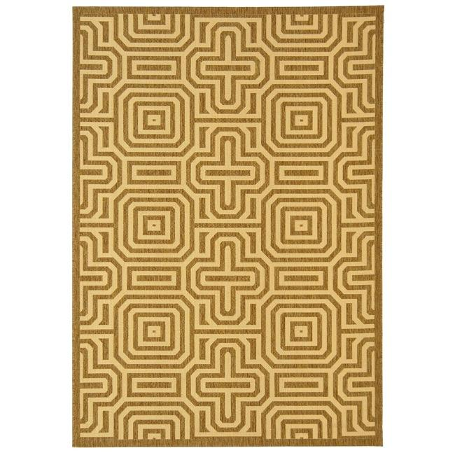 Safavieh Indoor/ Outdoor Matrix Brown/ Natural Rug (8' x 11'2)