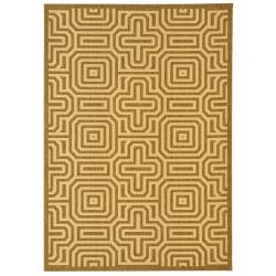 Indoor/ Outdoor Matrix Brown/ Natural Rug (8' x 11'2)