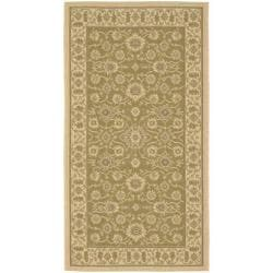 Indoor/ Outdoor Brown/ Creme Rug (2'7 x 5')