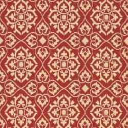 Safavieh Indoor/ Outdoor Red/ Creme Rug (8' x 11'2)